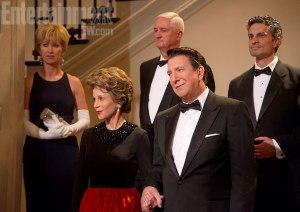 Jane Fonda and Alan Rickman as the Reagans