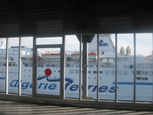 What other gallery would give you such a close-up of the Algerian car ferry!