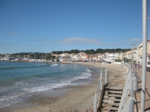 The Beach at St Cyr looking towards Les Lecques