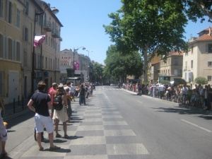 Waiting for the cyclists last summer in Aix