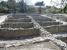 The remains of houses at Entremont, north of Aix