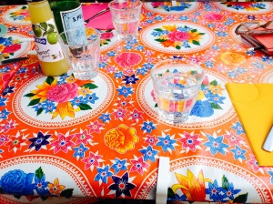 Colourful tables - happy atmosphere