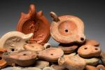 Oil lamps for lighting the Roman villas