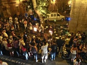 The True Ones playing in rue d'Italie at a previous Fete de la Musique