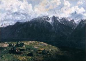 Gustave Courbet, Panorama des Alpes, Musée d'art et histoire de la ville de Geneve.