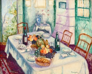La Table du Réveillon by Henri Manguin @ Adagp Paris