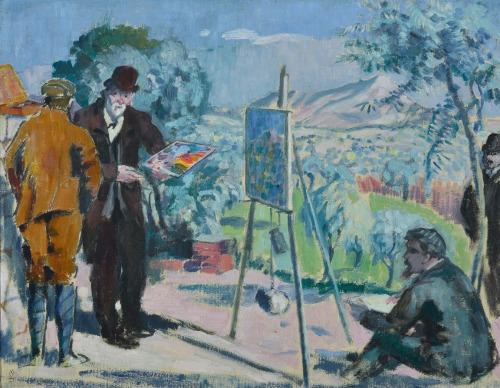 La Visite a Cézanne, Maurice Denis, 1906