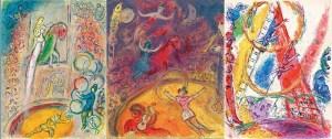 Les trois acrobates, Paris 1957, lithographie originale, M/S 169, © ADAGP 2016