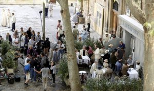 Filming took place near the Cathedral: Image from La Provence
