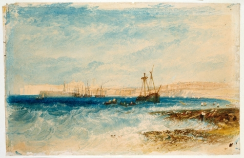 JMW Turner, Margate, 1826 – 1828. Watercolour © Ashmolean Museum, University of Oxford.