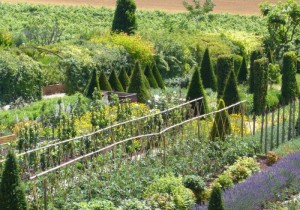 The garden at Val Joanis
