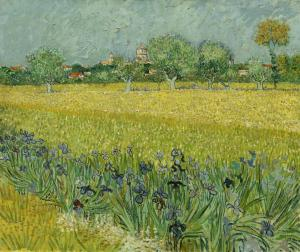 Van Gogh's view of Arles; it's hardly changed in 125 years.