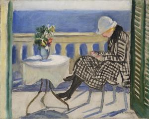Charles-Camoin-Lola-sur-le-balcon-1920.Collection particuliere. Copyright Archives Camoin, ADAGP, Paris 2016