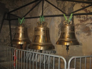 The new bells are in a side chapel