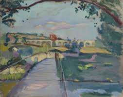 Still recognisable - this viaduct, which we pass under on the A8, was painted by Camoin in 1906